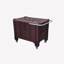 Caixa Contentora 372 litros com Alça e Rodas