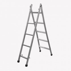 Escada articulada e expansível com 5 degraus