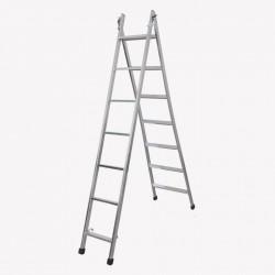 Escada articulada e expansível com 7 degraus