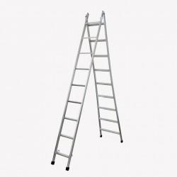 Escada articulada e expansível com 9 degraus