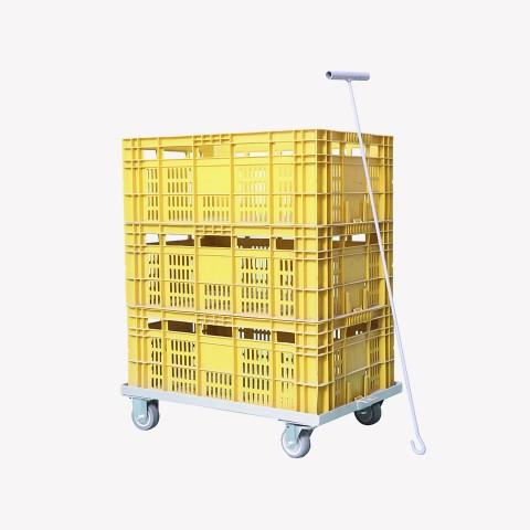 Carro tartaruga para caixa hortifruti